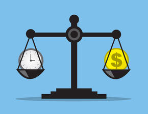 Scale balancing time and money